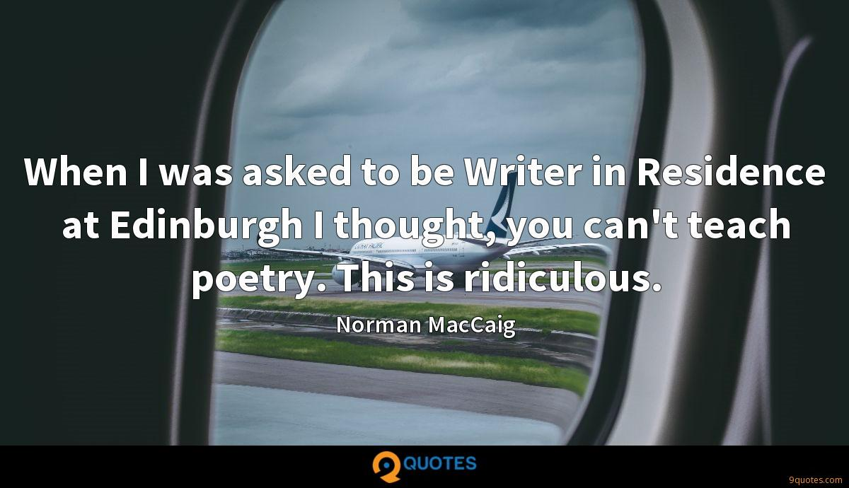 Norman MacCaig quotes