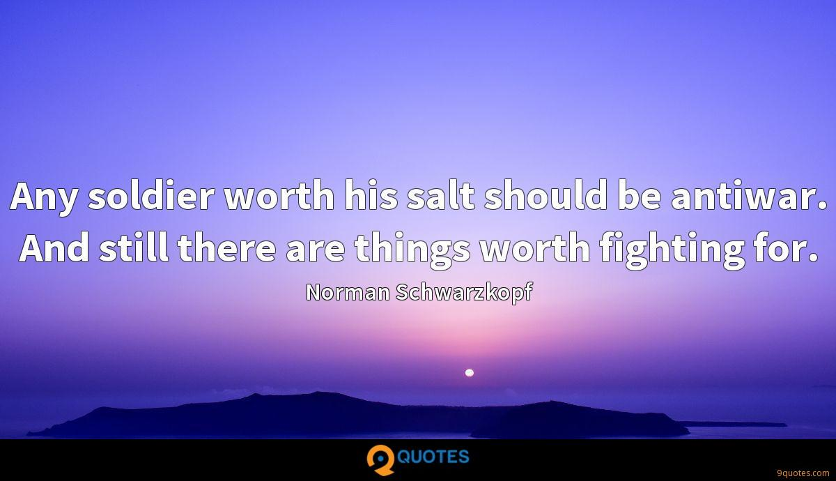 Any soldier worth his salt should be antiwar. And still there are things worth fighting for.