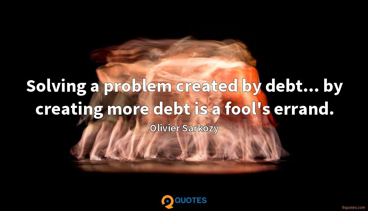 Solving a problem created by debt... by creating more debt is a fool's errand.