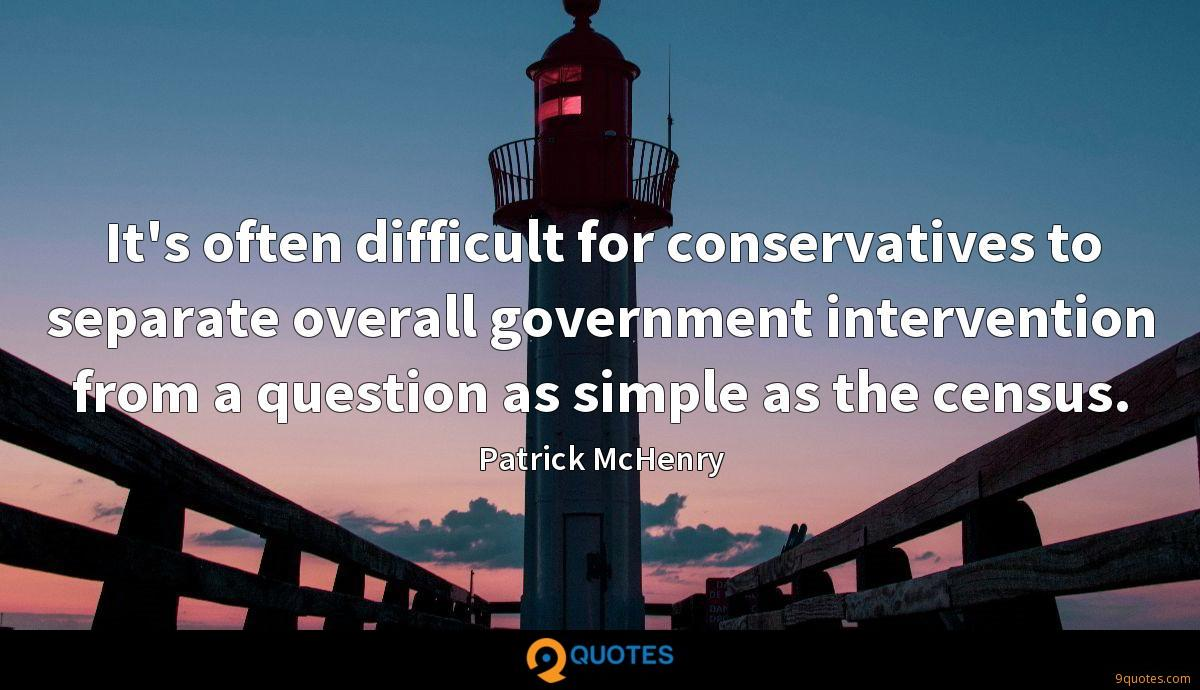 It's often difficult for conservatives to separate overall government intervention from a question as simple as the census.