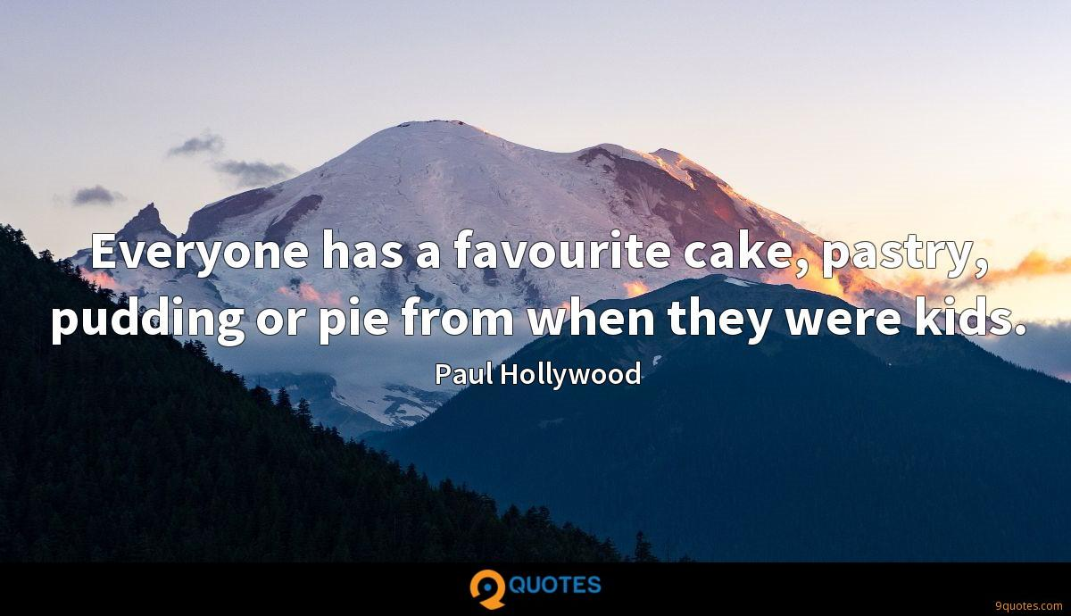Everyone has a favourite cake, pastry, pudding or pie from when they were kids.