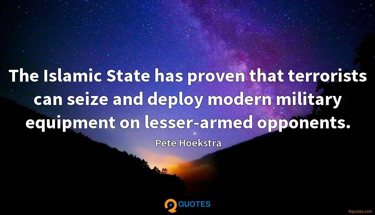 The Islamic State has proven that terrorists can seize and deploy modern military equipment on lesser-armed opponents.