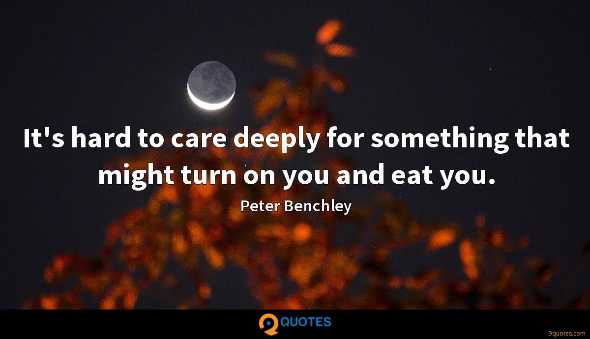Peter Benchley quotes