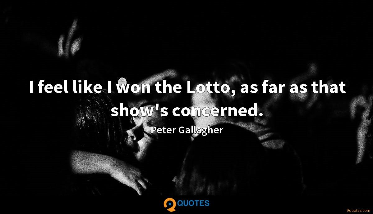 Peter Gallagher quotes