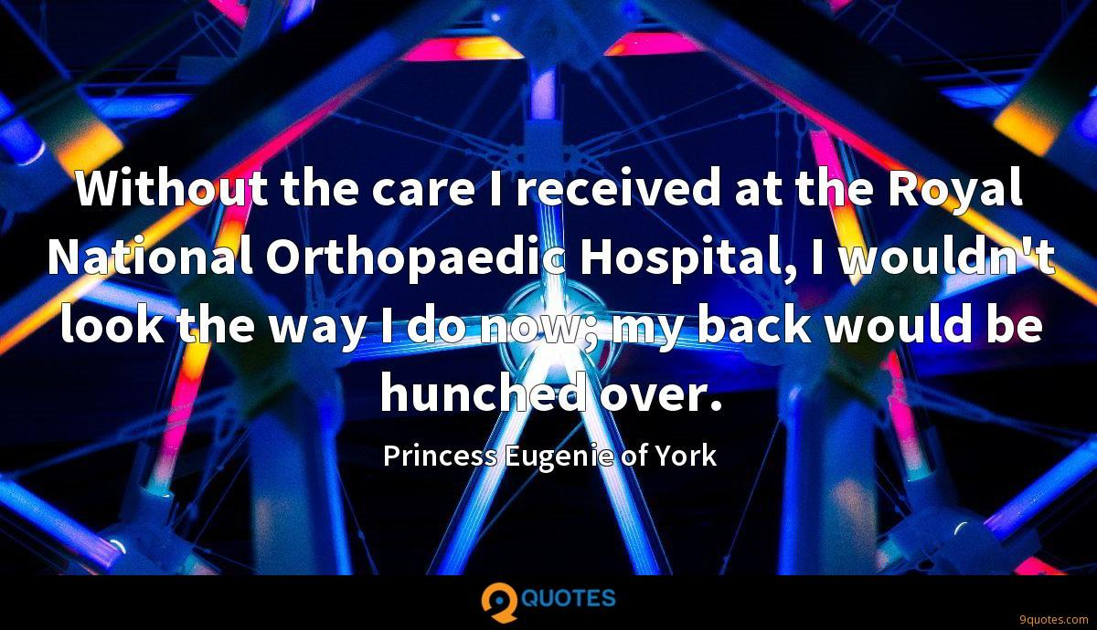 Without the care I received at the Royal National Orthopaedic Hospital, I wouldn't look the way I do now; my back would be hunched over.