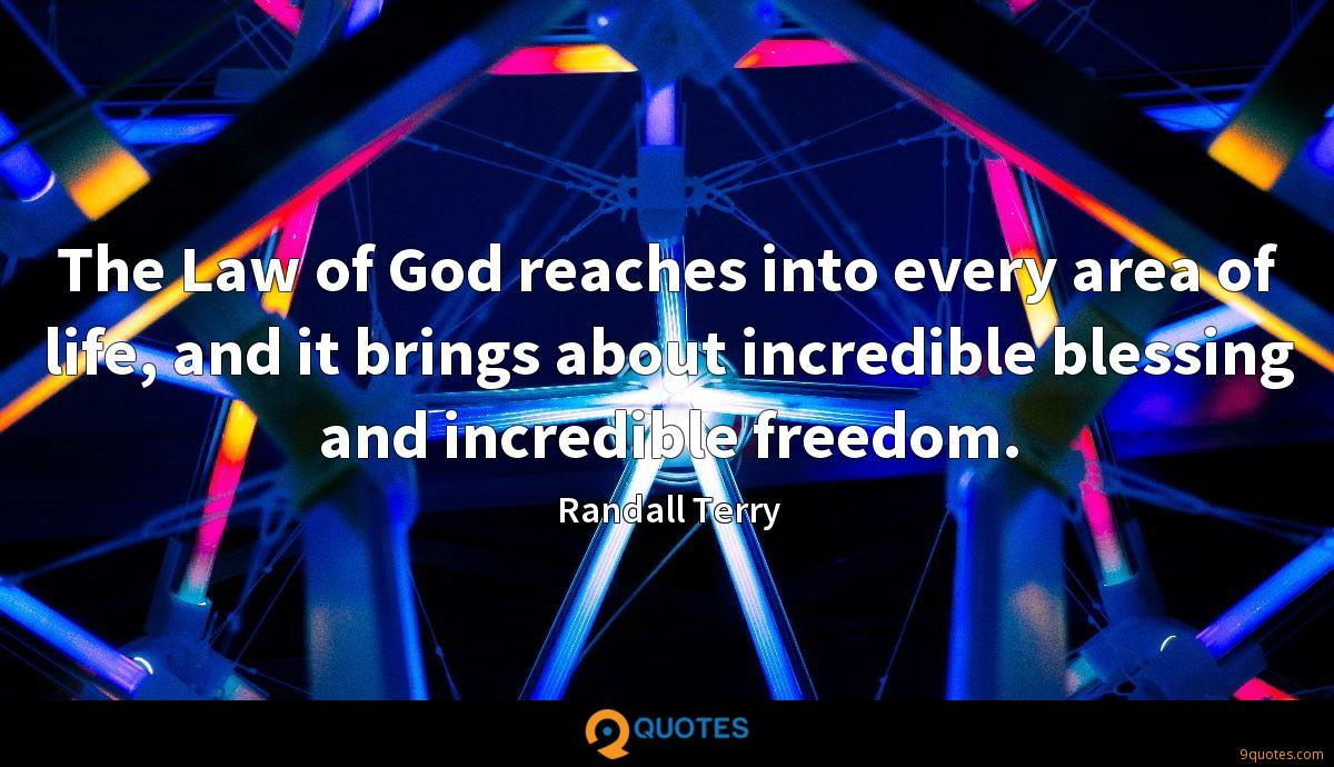 The Law of God reaches into every area of life, and it brings about incredible blessing and incredible freedom.