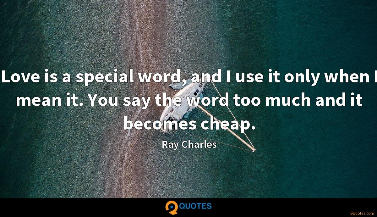Ray Charles quotes