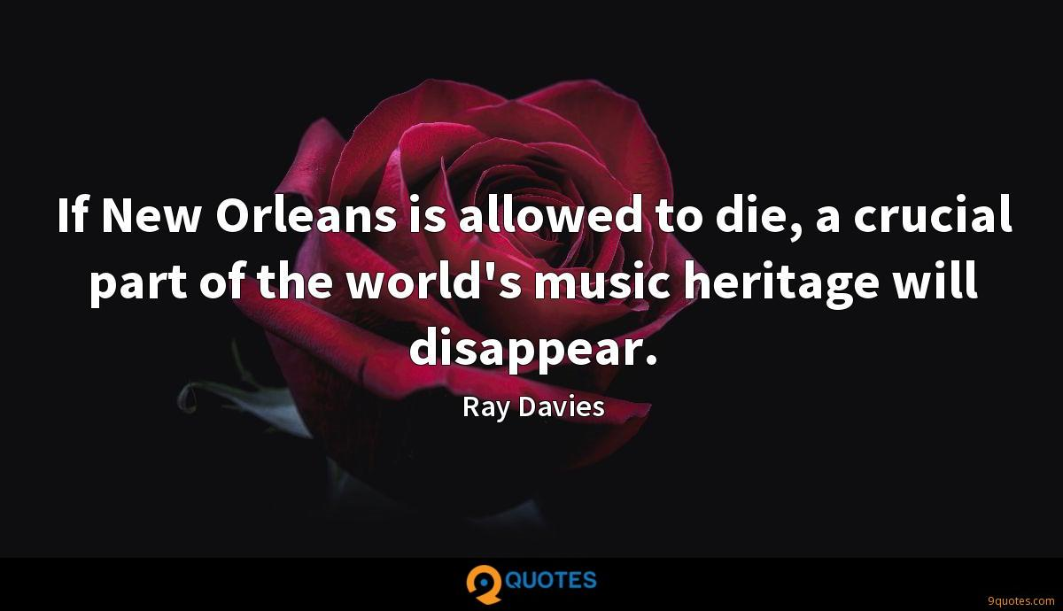 If New Orleans is allowed to die, a crucial part of the world's music heritage will disappear.