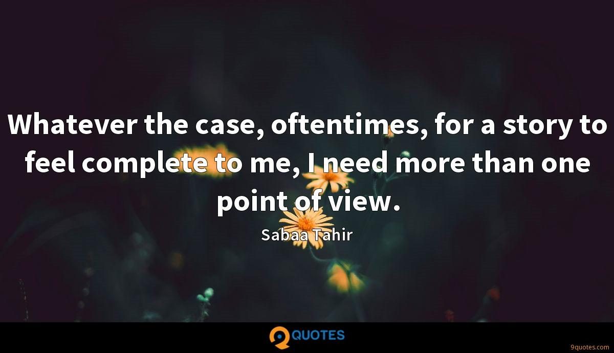 Whatever the case, oftentimes, for a story to feel complete to me, I need more than one point of view.