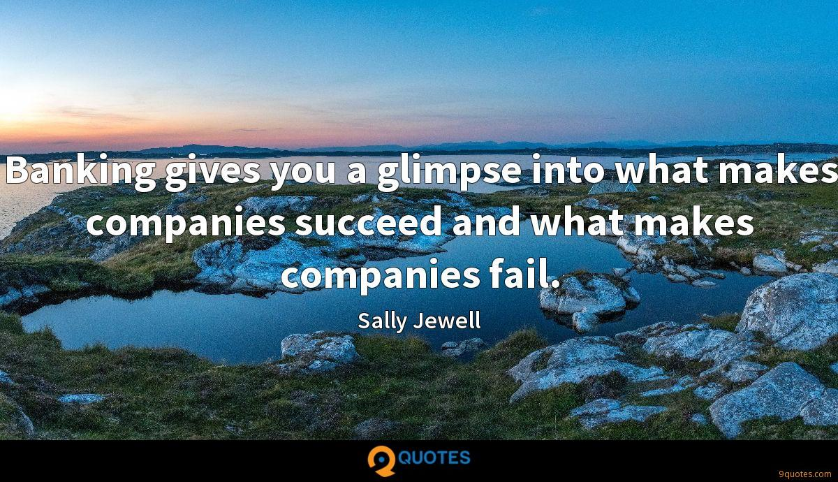 Banking gives you a glimpse into what makes companies succeed and what makes companies fail.