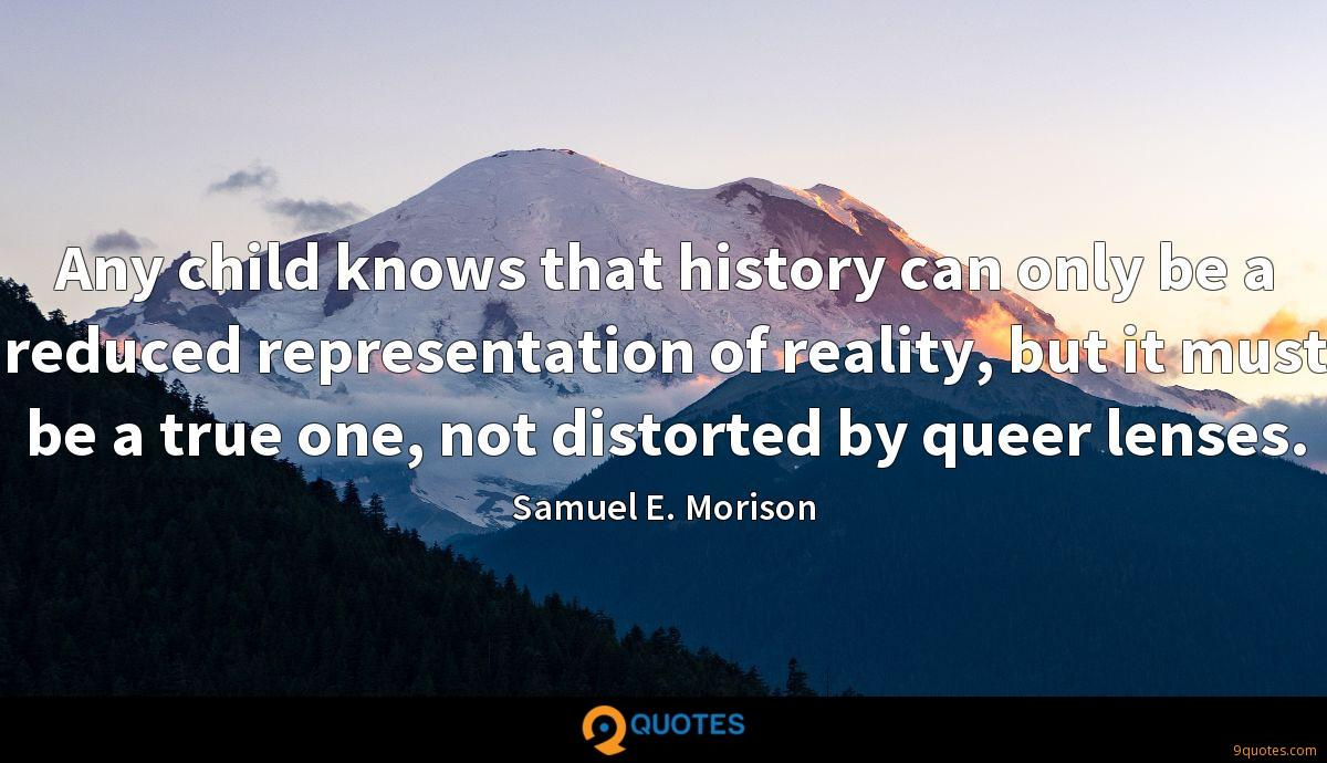 Any child knows that history can only be a reduced representation of reality, but it must be a true one, not distorted by queer lenses.