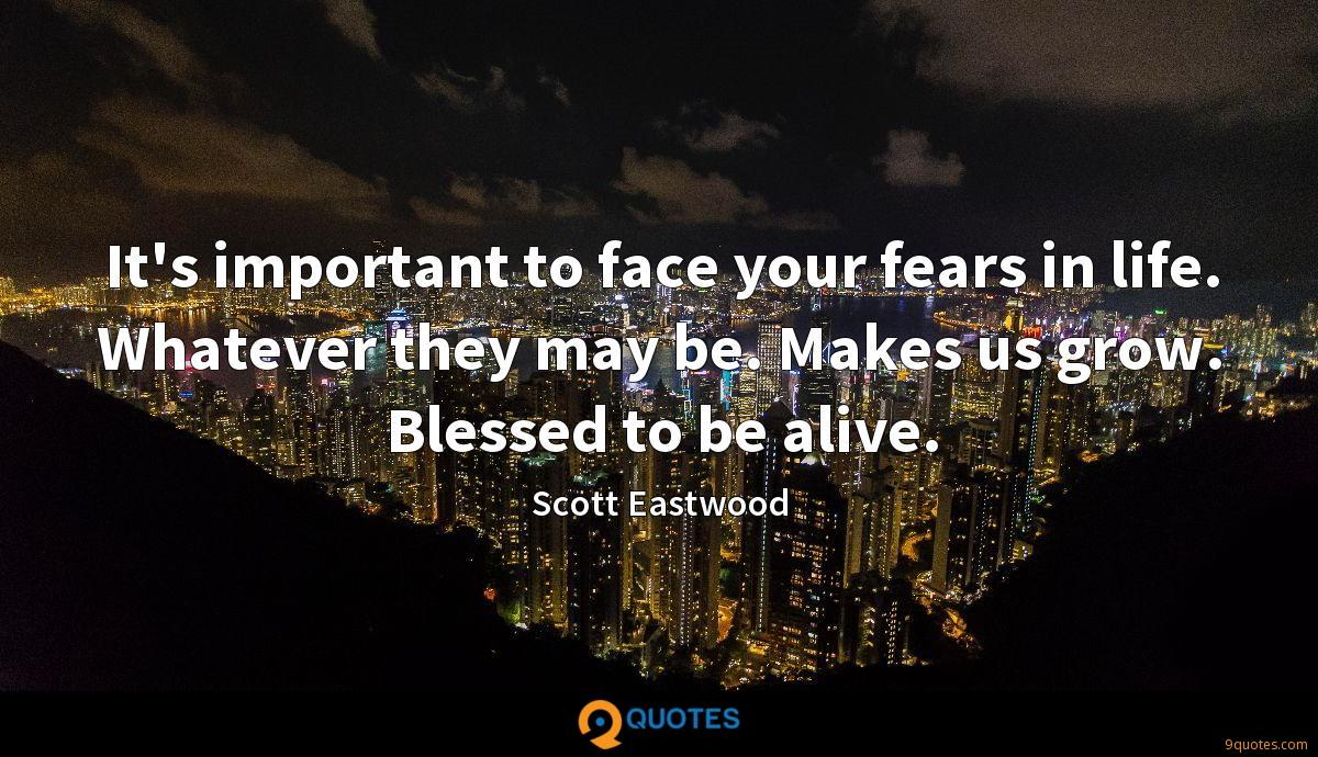 It's important to face your fears in life. Whatever they may be. Makes us grow. Blessed to be alive.