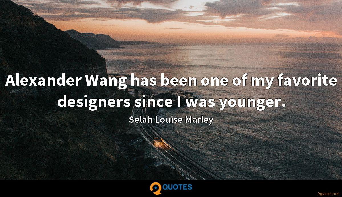 Alexander Wang has been one of my favorite designers since I was younger.