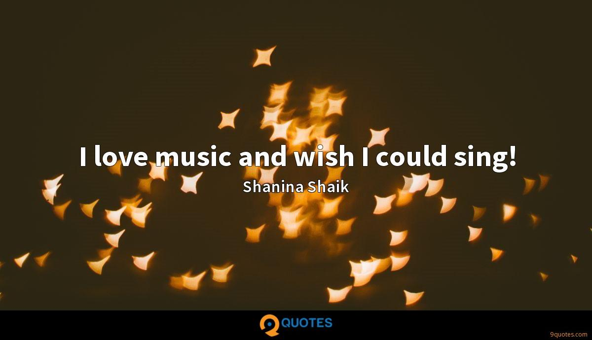 I love music and wish I could sing!