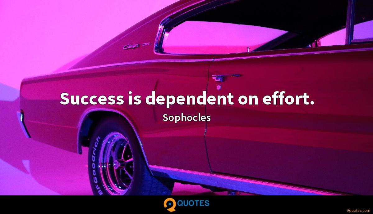 Success is dependent on effort.