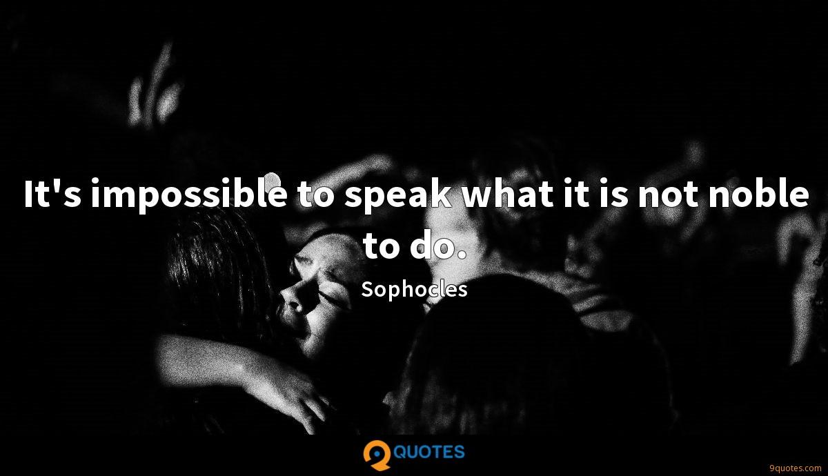 Sophocles quotes