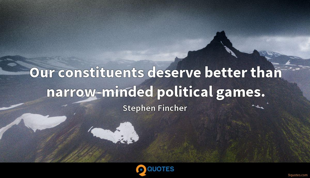 Stephen Fincher quotes