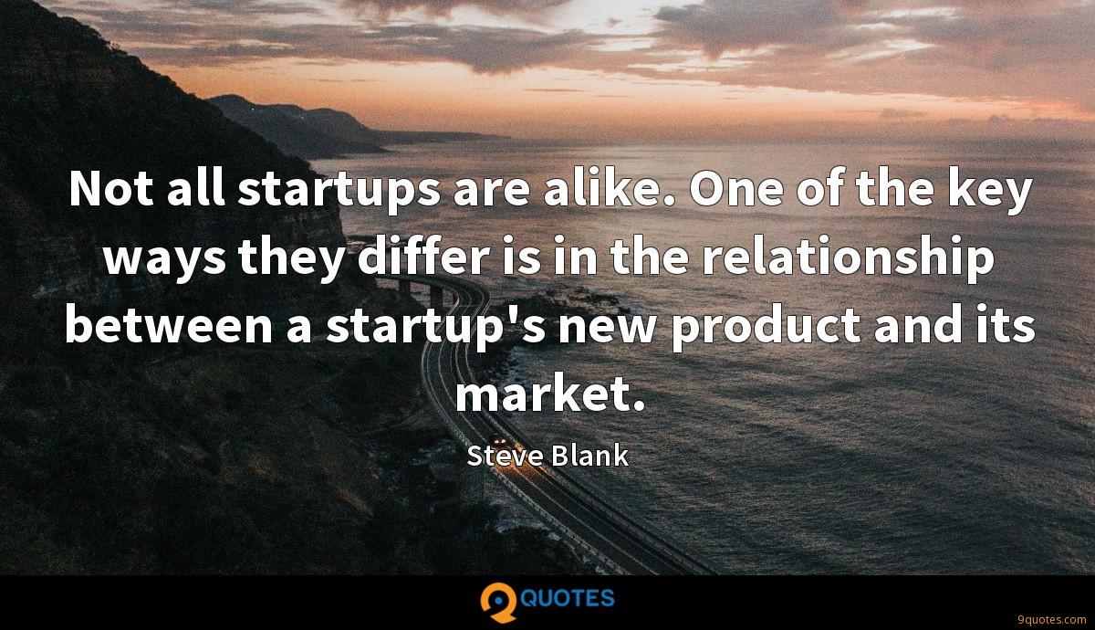 Not all startups are alike. One of the key ways they differ is in the relationship between a startup's new product and its market.