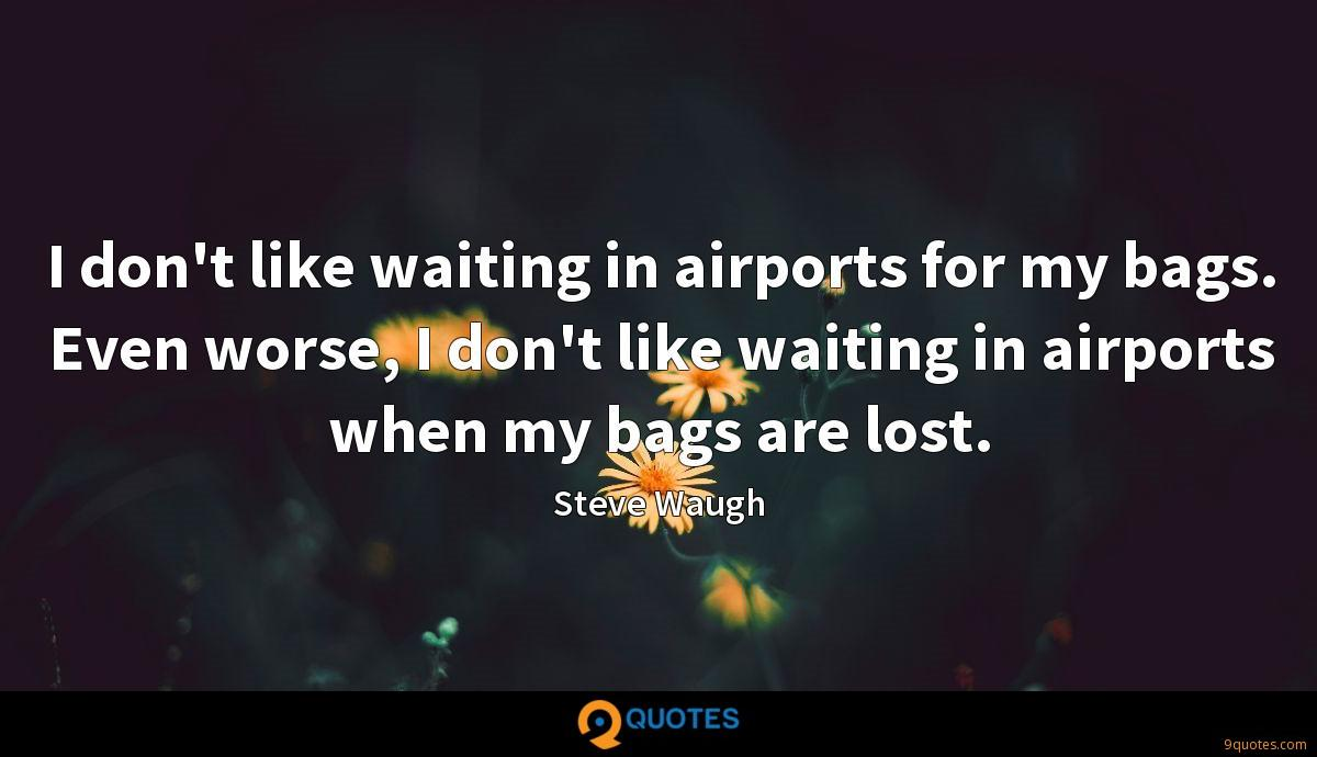 I don't like waiting in airports for my bags. Even worse, I don't like waiting in airports when my bags are lost.