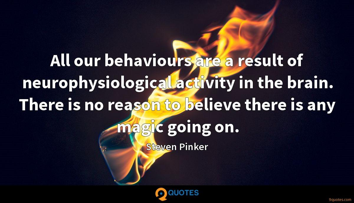 All our behaviours are a result of neurophysiological activity in the brain. There is no reason to believe there is any magic going on.
