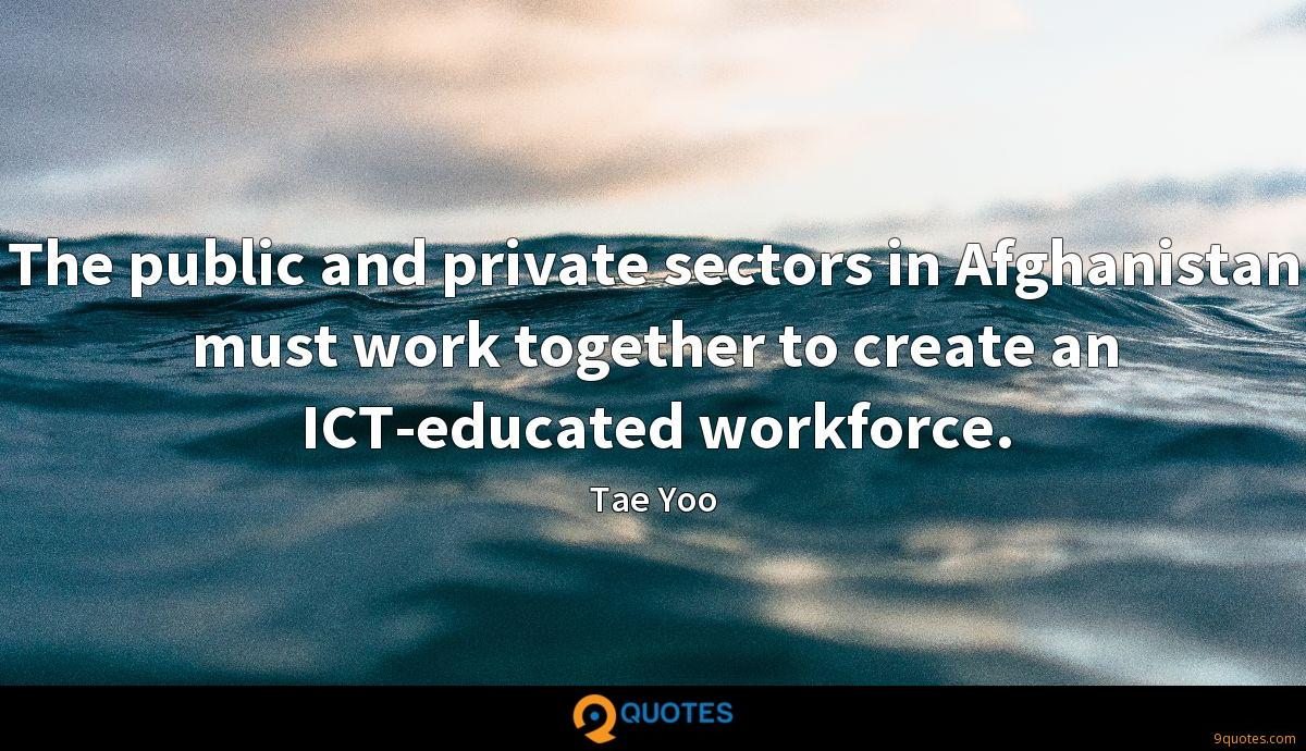 The public and private sectors in Afghanistan must work together to create an ICT-educated workforce.