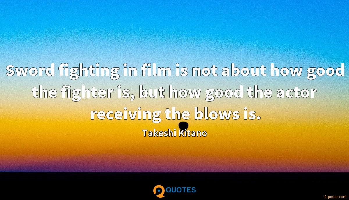 Sword fighting in film is not about how good the fighter is, but how good the actor receiving the blows is.