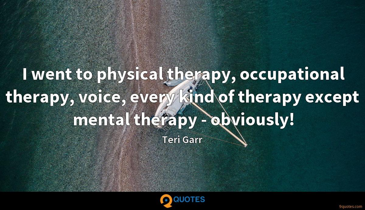 I Went To Physical Therapy Occupational Therapy Voice