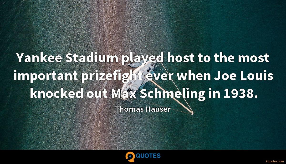 Thomas Hauser quotes