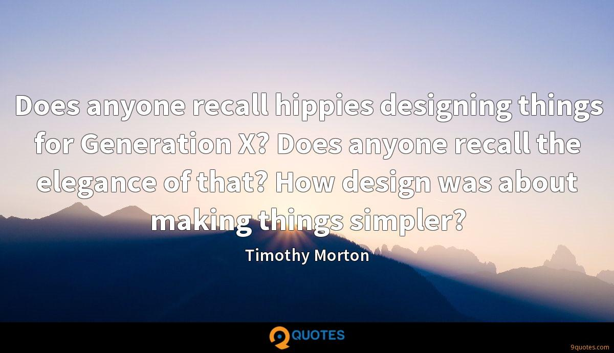 Timothy Morton quotes