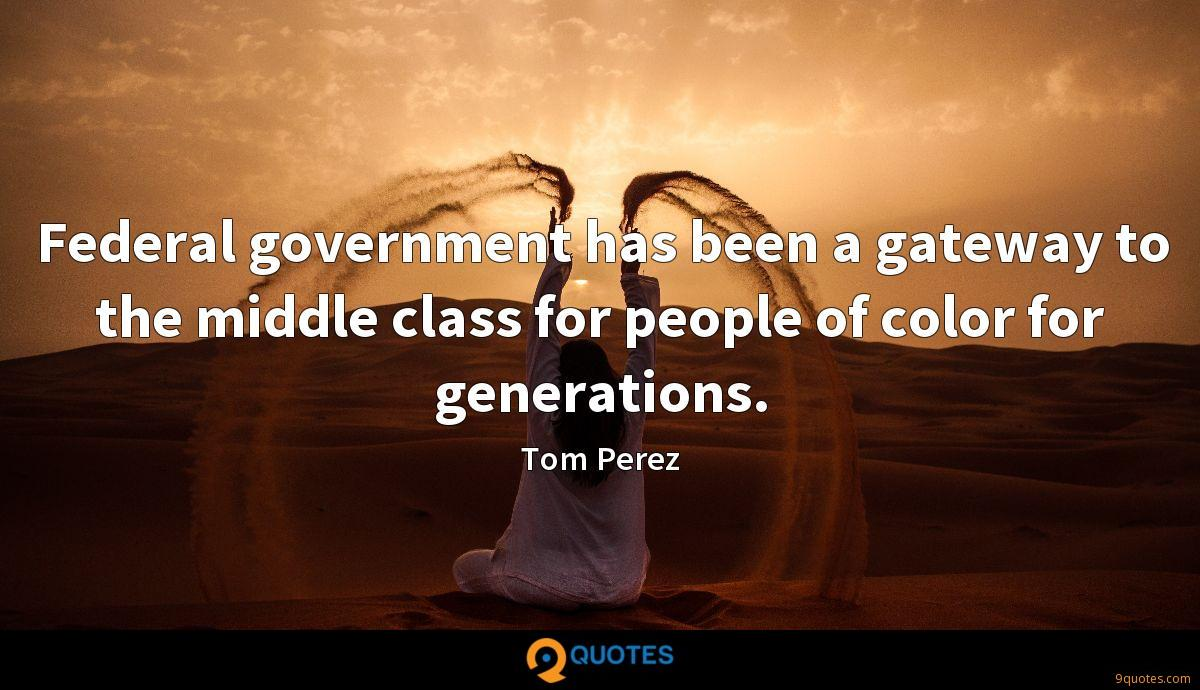 Federal government has been a gateway to the middle class for people of color for generations.
