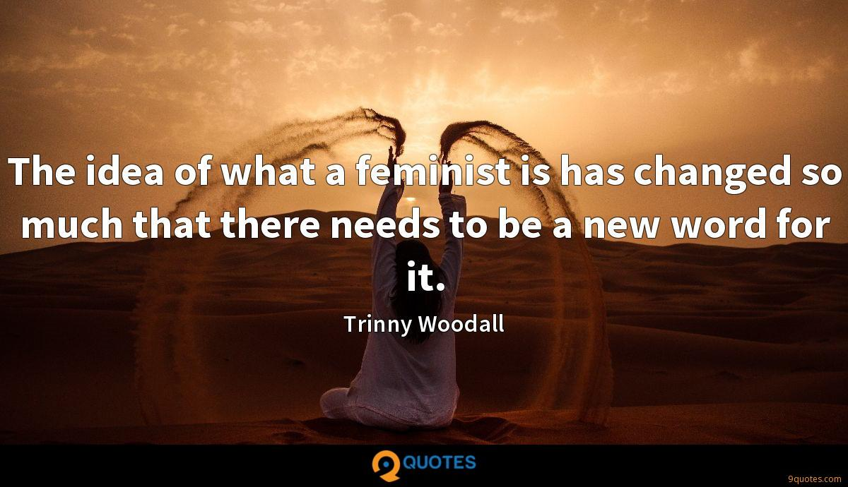 The idea of what a feminist is has changed so much that there needs to be a new word for it.