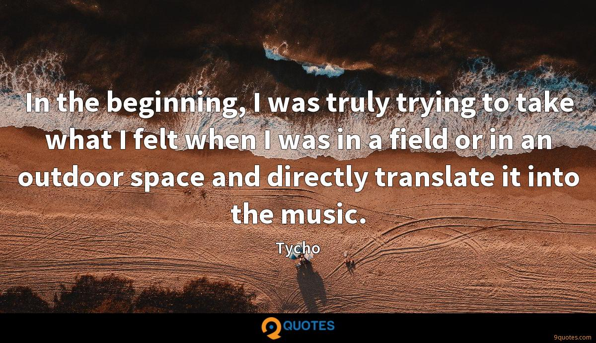 Tycho quotes