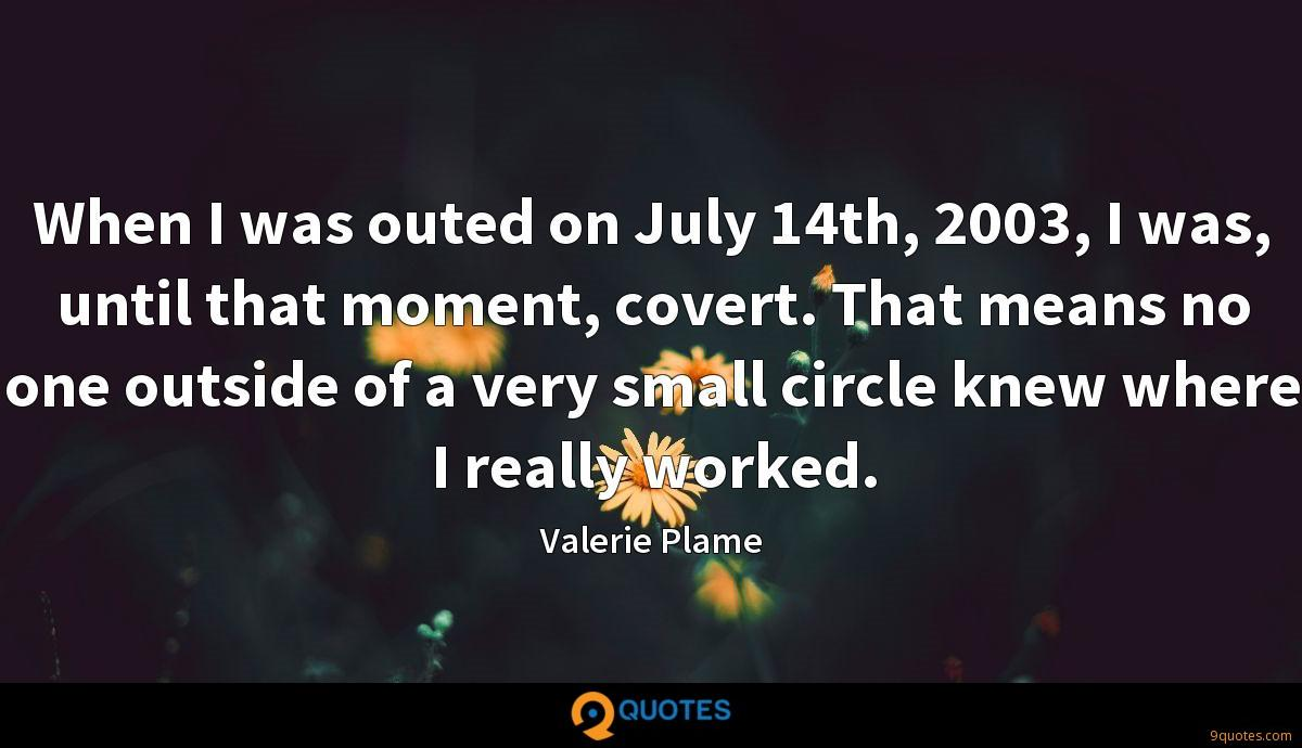 Valerie Plame quotes