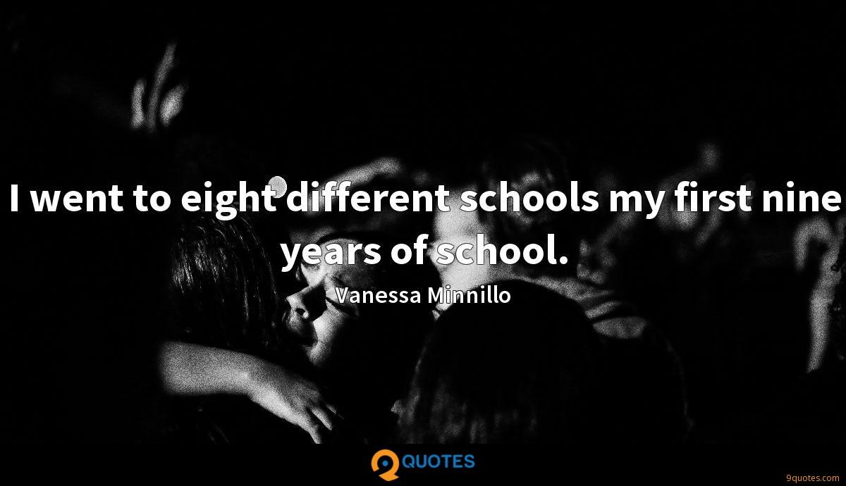 I went to eight different schools my first nine years of school.
