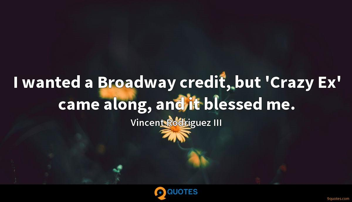 I wanted a Broadway credit, but \'Crazy Ex\' came along ...