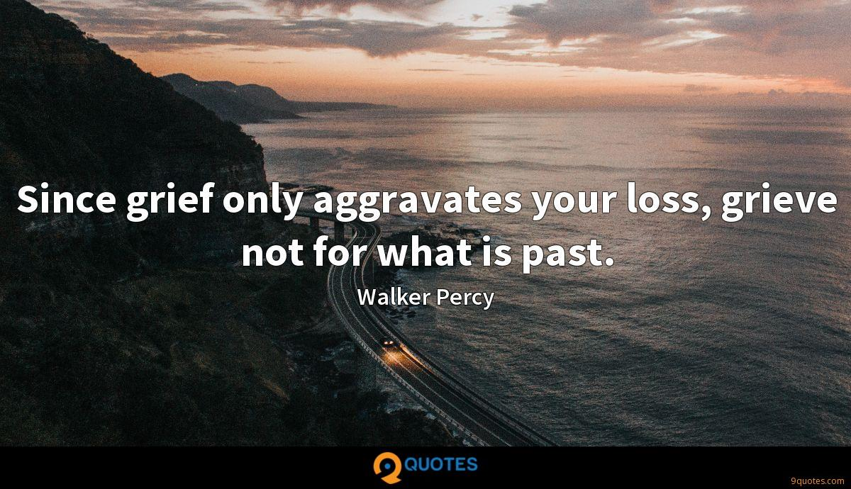 Since grief only aggravates your loss, grieve not for what is past.