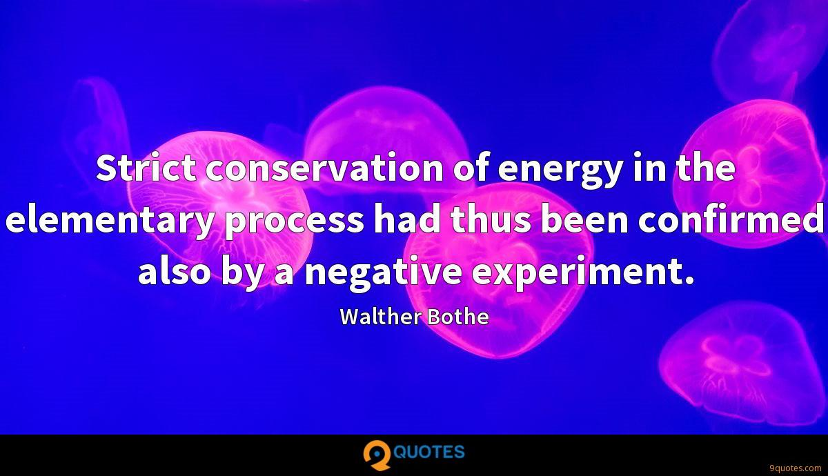 Strict conservation of energy in the elementary process had thus been confirmed also by a negative experiment.