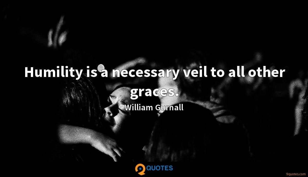 Humility is a necessary veil to all other graces.