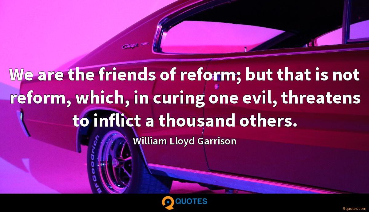 We are the friends of reform; but that is not reform, which, in curing one evil, threatens to inflict a thousand others.